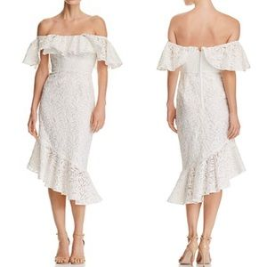 C/MEO Collective Need You More Lace Midi Dress